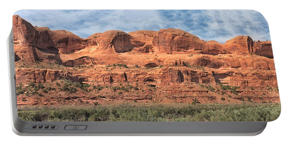 Arches National Park Portable Battery Charger featuring the photograph View From Highway 128, Utah by Jerry Fornarotto