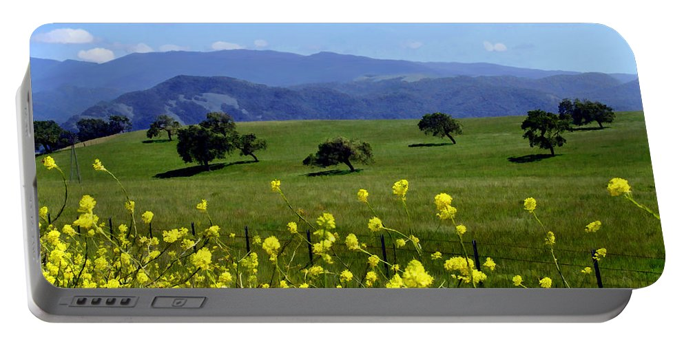Wild Flowers Portable Battery Charger featuring the photograph View From Highway 154 by Kurt Van Wagner