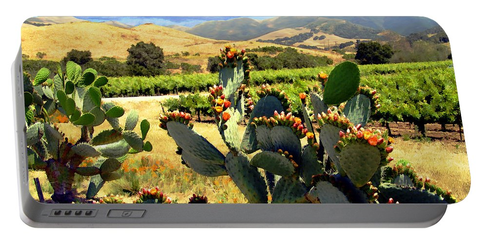 Vineyards Portable Battery Charger featuring the photograph View From Santa Rosa Road by Kurt Van Wagner