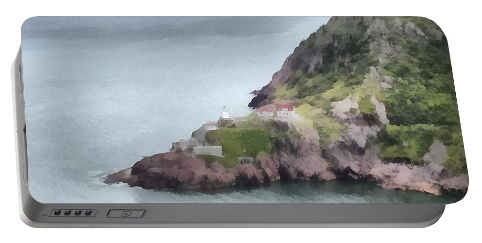 Canadian Portable Battery Charger featuring the painting View From Signal Hill by Jeffrey Kolker