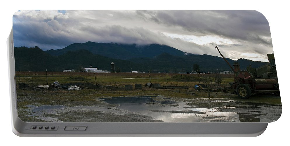 Clay Portable Battery Charger featuring the photograph View From The Horse Barn by Clayton Bruster