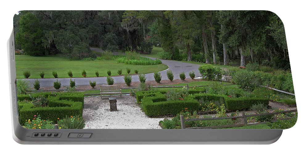 Plantation Portable Battery Charger featuring the digital art View From The Porch by DigiArt Diaries by Vicky B Fuller