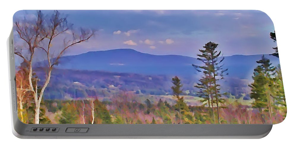 Stowe Portable Battery Charger featuring the photograph View From Von Trapps Lodge 1 by Bill Cannon