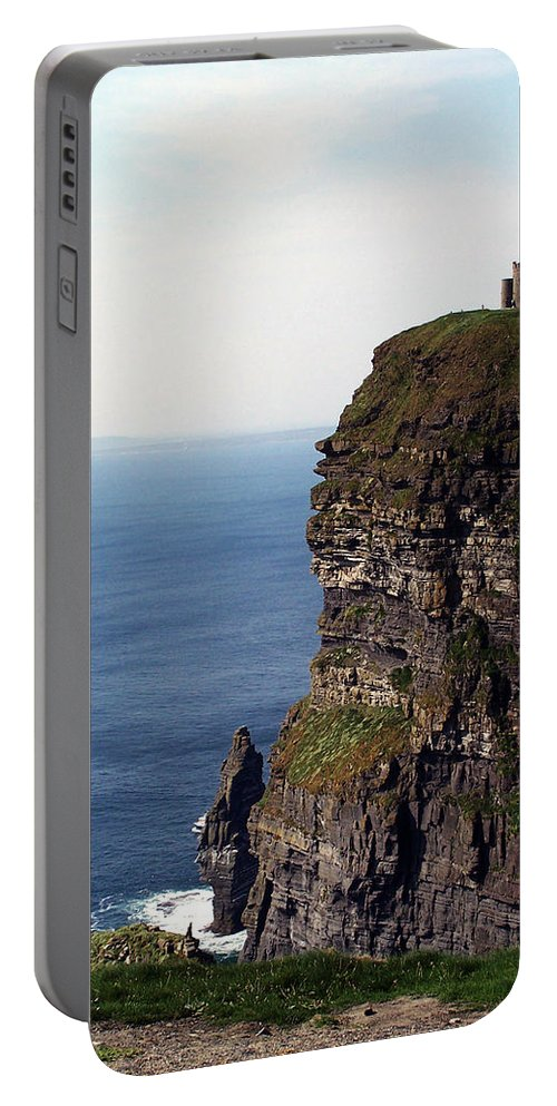 Irish Portable Battery Charger featuring the photograph View Of Aran Islands And Cliffs Of Moher County Clare Ireland by Teresa Mucha