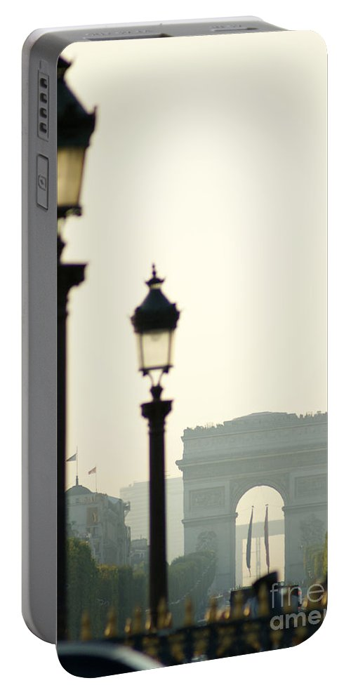 Paris Portable Battery Charger featuring the photograph View Of Arc De Triomphe by Christine Jepsen