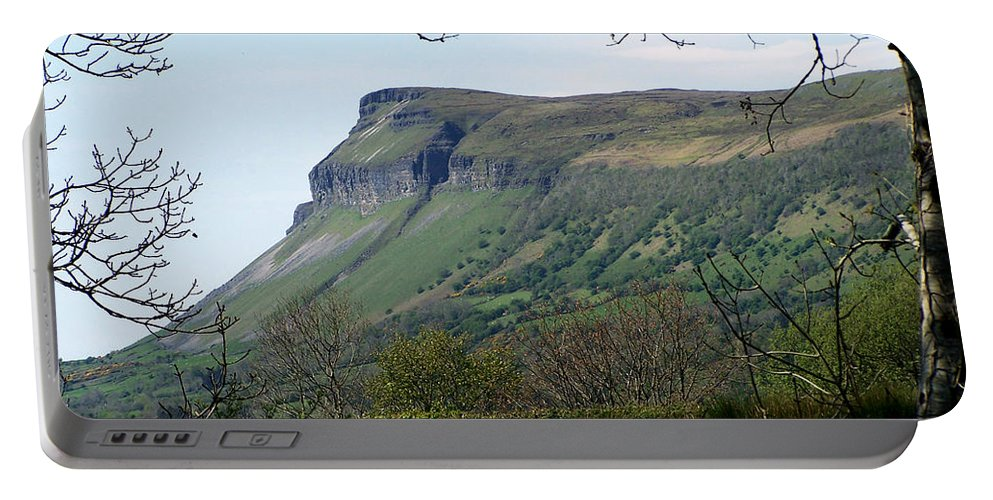 Irish Portable Battery Charger featuring the photograph View Of Benbulben From Glencar Lake Ireland by Teresa Mucha