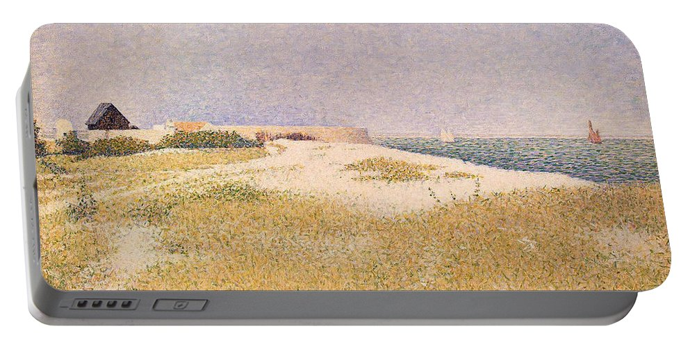 Seurat Portable Battery Charger featuring the painting View Of Fort Samson by Georges Pierre Seurat