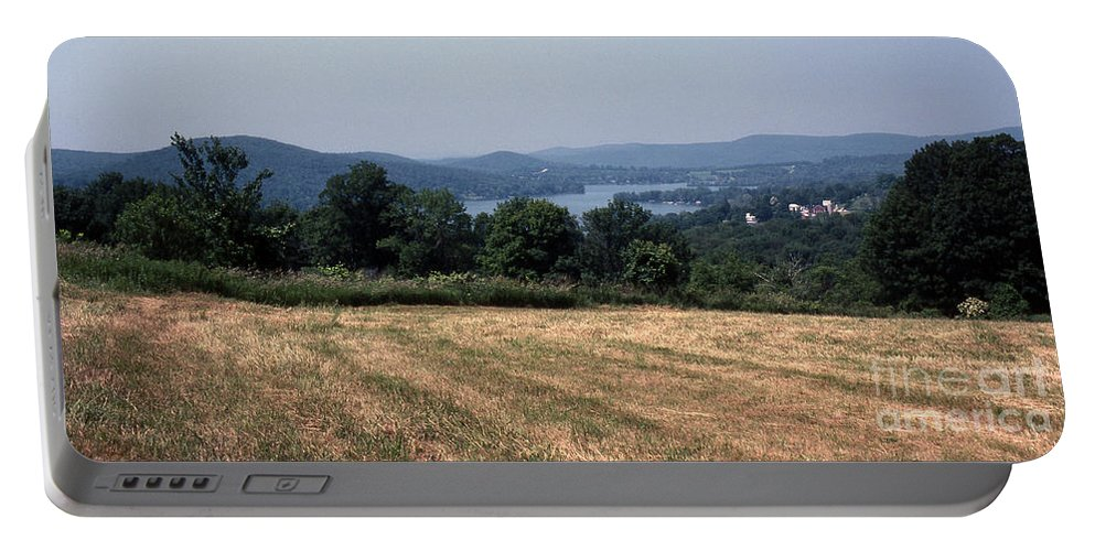 Lake Waramaug Portable Battery Charger featuring the photograph View Of Lake Waramaug by Richard Rizzo