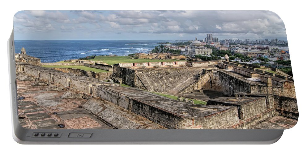 San Juan Portable Battery Charger featuring the photograph View Of San Juan From The Top Of Fort San Cristoba by Olga Hamilton