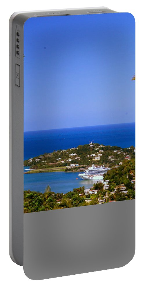 St. Lucia Portable Battery Charger featuring the photograph View Of St. Lucia by Gary Wonning