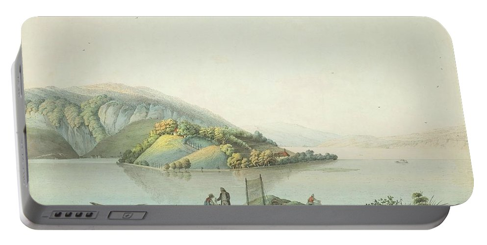 J.king (active In The 18th Century). 1st View Of The Island Of St. Peter Portable Battery Charger featuring the painting View Of The Island by MotionAge Designs
