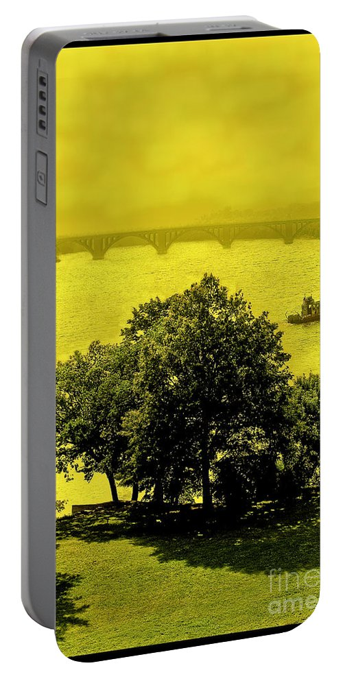 Potomac Portable Battery Charger featuring the photograph View Of The Potomac by Madeline Ellis