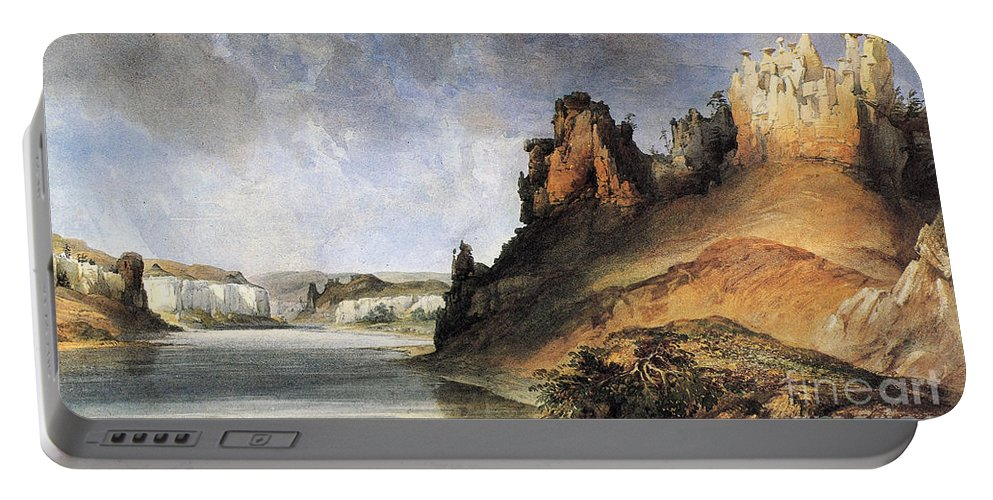 1830s Portable Battery Charger featuring the photograph View Of The Stone Walls by Granger