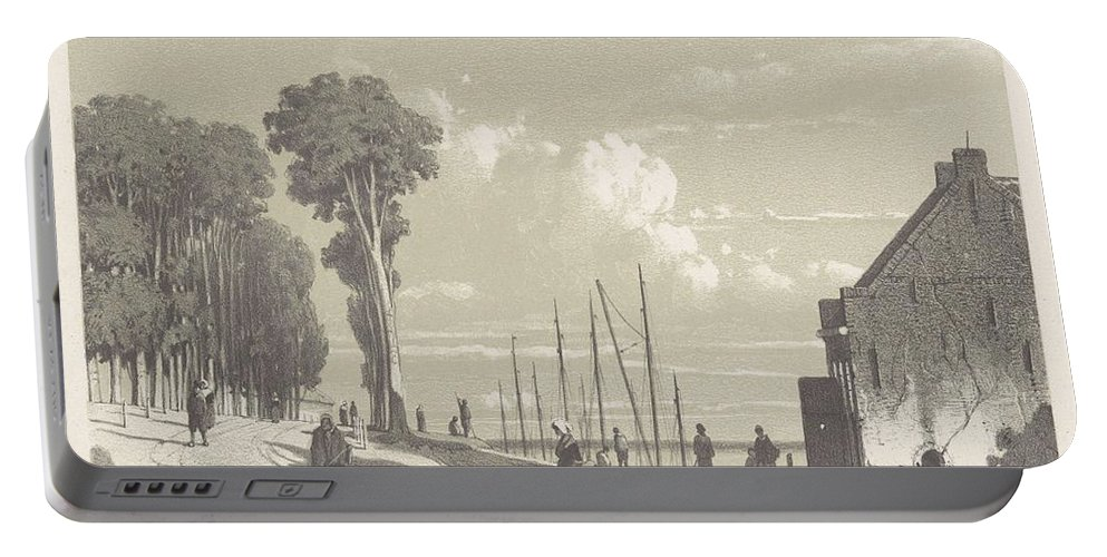 Man Portable Battery Charger featuring the painting View The Veerweg Culemborg, Jan Weissenbruch, 1847 - 1865 by Artistic Panda