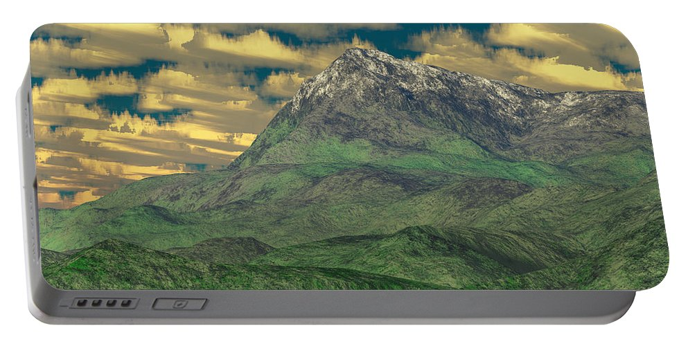 Digital Art Portable Battery Charger featuring the digital art View To The Mountain by Gaspar Avila