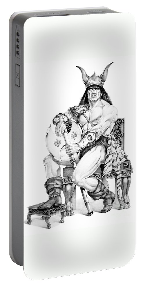 Viking Portable Battery Charger featuring the painting Viking Warrior by Melissa A Benson