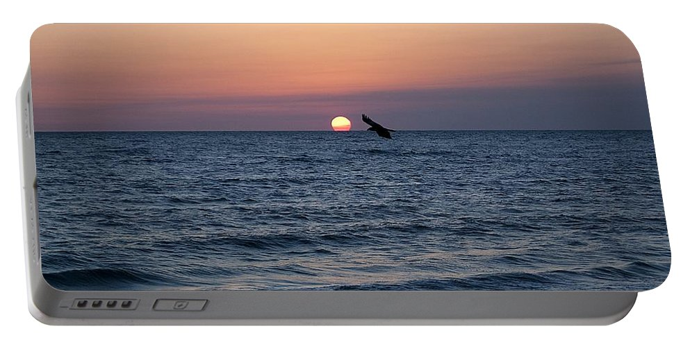 Beach Portable Battery Charger featuring the photograph Vilano Beach At Sunrise by Kenneth Albin