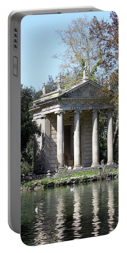 Villa Portable Battery Charger featuring the photograph Villa Borghese Park by Munir Alawi