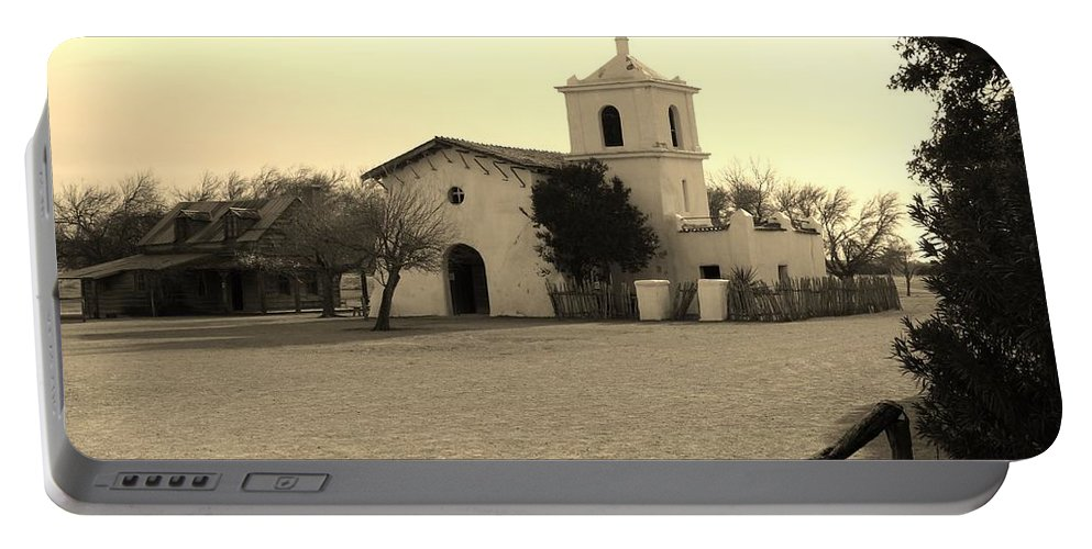 Landscape Portable Battery Charger featuring the photograph Village Chapel by Lynn Wist