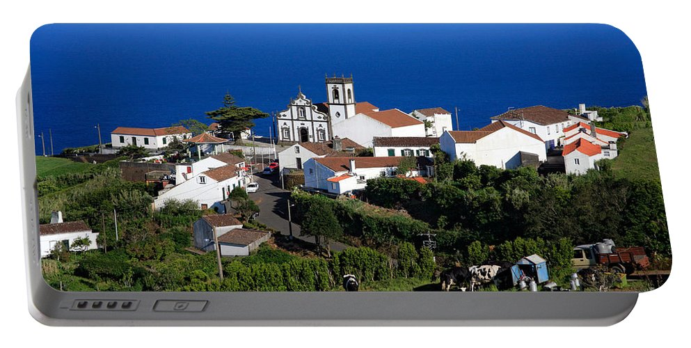 Azores Portable Battery Charger featuring the photograph Village in the Azores by Gaspar Avila