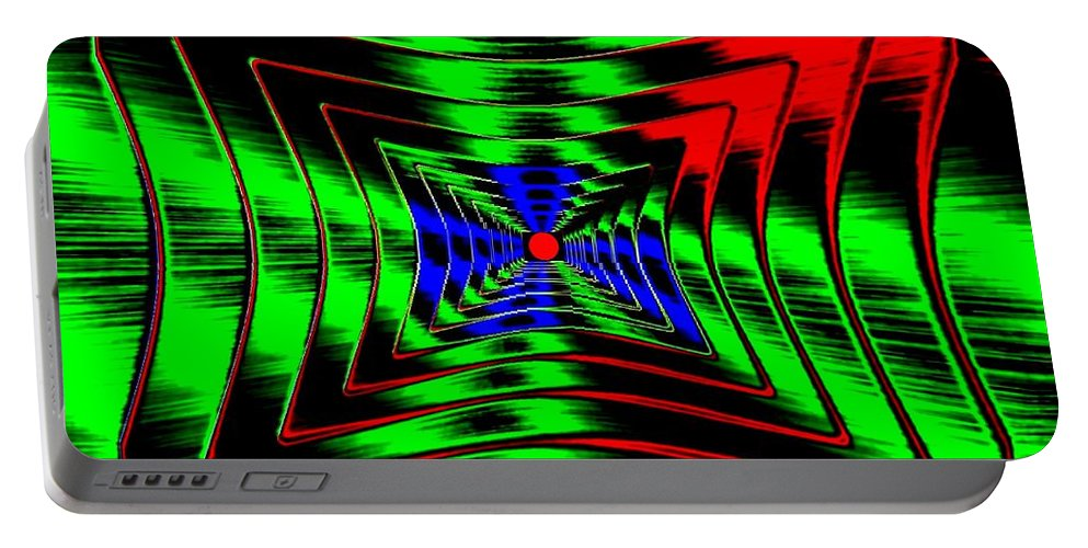 Energizing Portable Battery Charger featuring the digital art Vim And Vigor by Will Borden