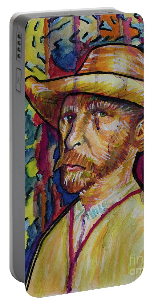 Vincent Portable Battery Charger featuring the painting Vincent by Robert Yaeger