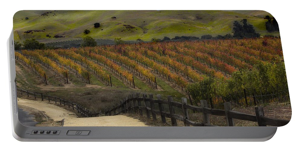 Landscape Portable Battery Charger featuring the photograph Vineyard 2 by Karen W Meyer