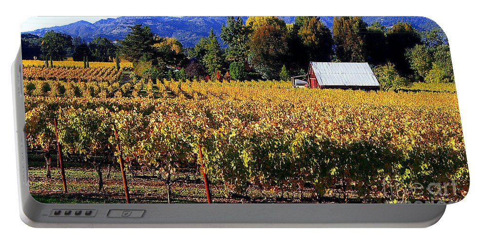 Napa Valley Portable Battery Charger featuring the photograph Vineyard 4 by Xueling Zou