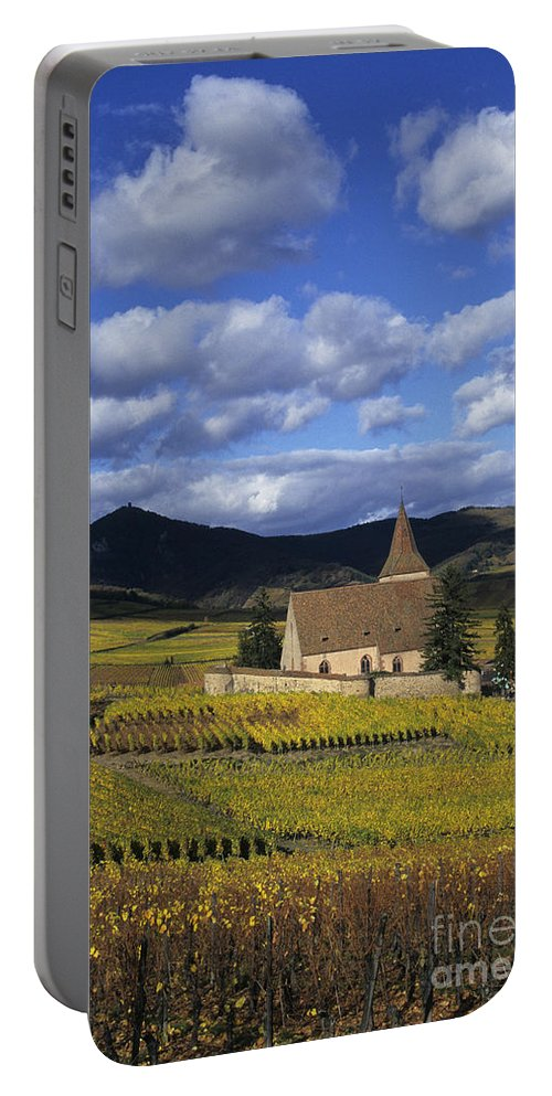 Vineyard Portable Battery Charger featuring the photograph Vineyard In Alsace, France by Jean-Louis Klein & Marie-Luce Hubert