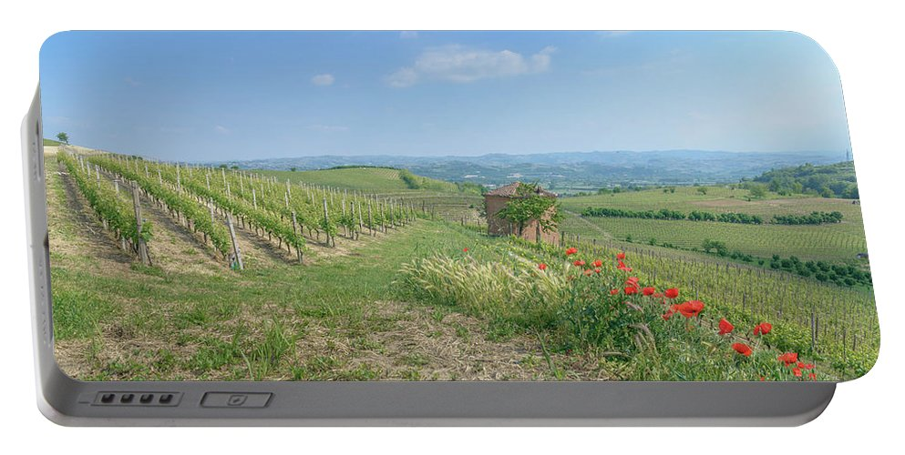 Italy Portable Battery Charger featuring the photograph Vineyard In Italy by Alexandre Rotenberg