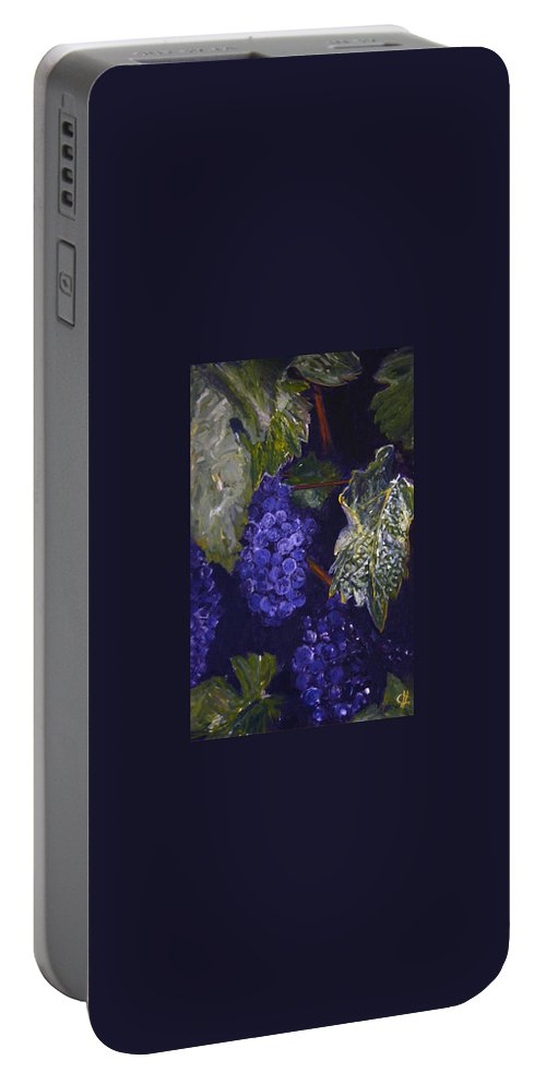 Landscape Portable Battery Charger featuring the painting Vinobrani by Pablo de Choros