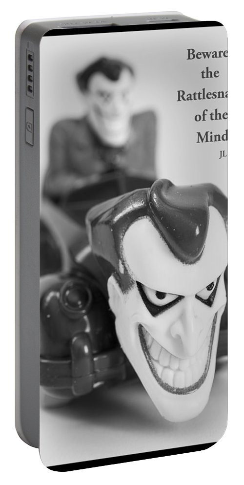 Toy Portable Battery Charger featuring the photograph Vintage Child's Toy With Text by Donald Erickson