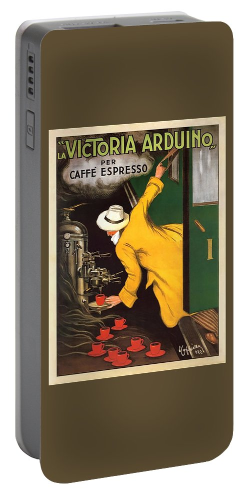 Vintage Coffee Advert Portable Battery Charger featuring the digital art Vintage Coffee Advert - Circa 1920's by Marlene Watson