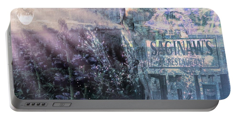 Portable Battery Charger featuring the digital art Vintage Collage 1 by Cathy Anderson