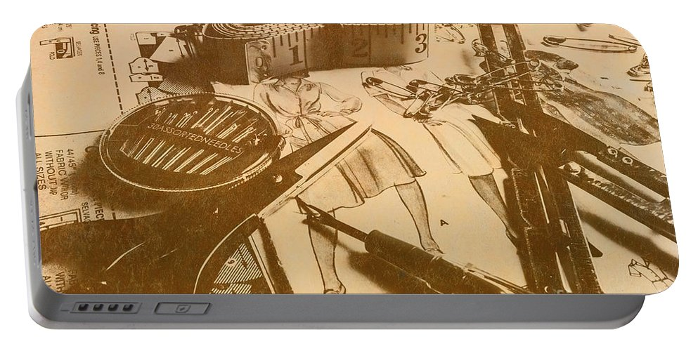 Crafting Portable Battery Charger featuring the photograph Vintage Fashion Design by Jorgo Photography - Wall Art Gallery