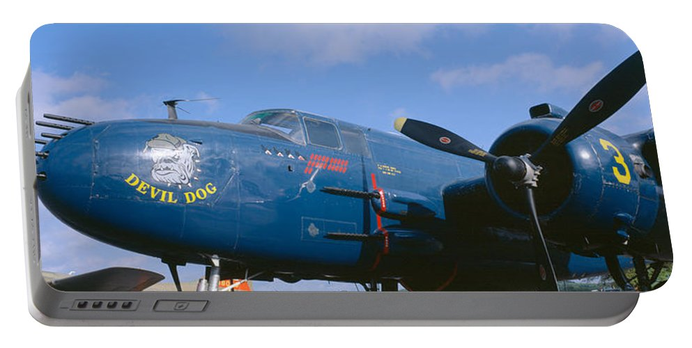 Photography Portable Battery Charger featuring the photograph Vintage Fighter Aircraft, Burnet, Texas by Panoramic Images