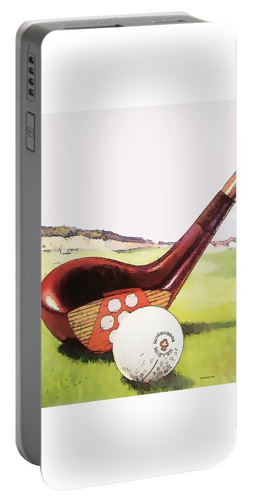 Vintage Golf Art Portable Battery Charger featuring the digital art Vintage Golf Art - Circa 1920's by Marlene Watson