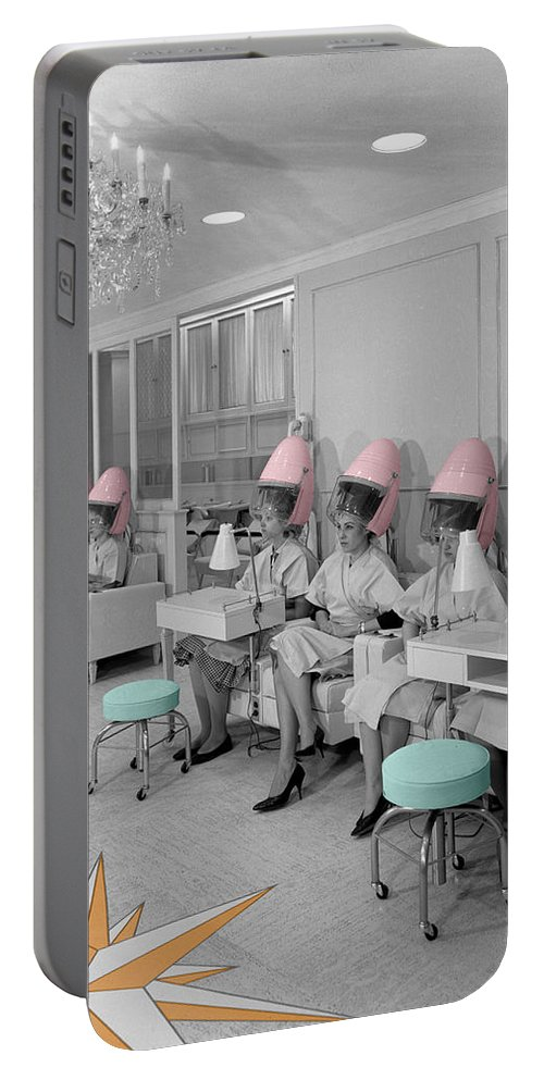 Hair Salon Portable Battery Charger featuring the photograph Vintage Hair Salon by Andrew Fare