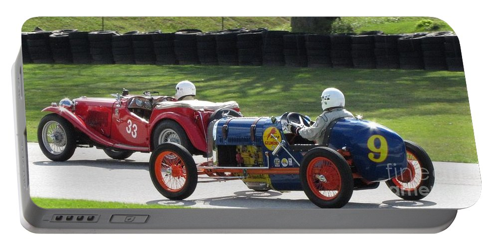 Car Portable Battery Charger featuring the photograph Vintage Racers by Neil Zimmerman