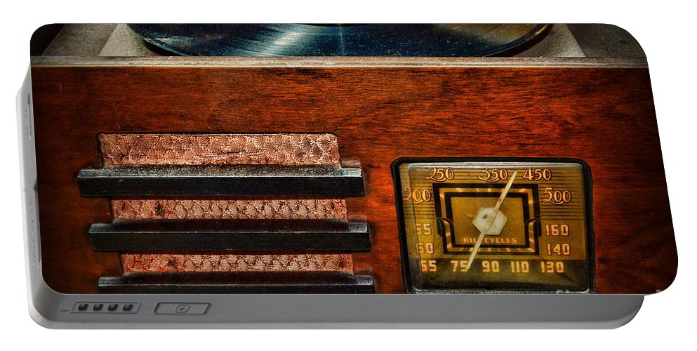 Paul Ward Portable Battery Charger featuring the photograph Vintage Radio by Paul Ward