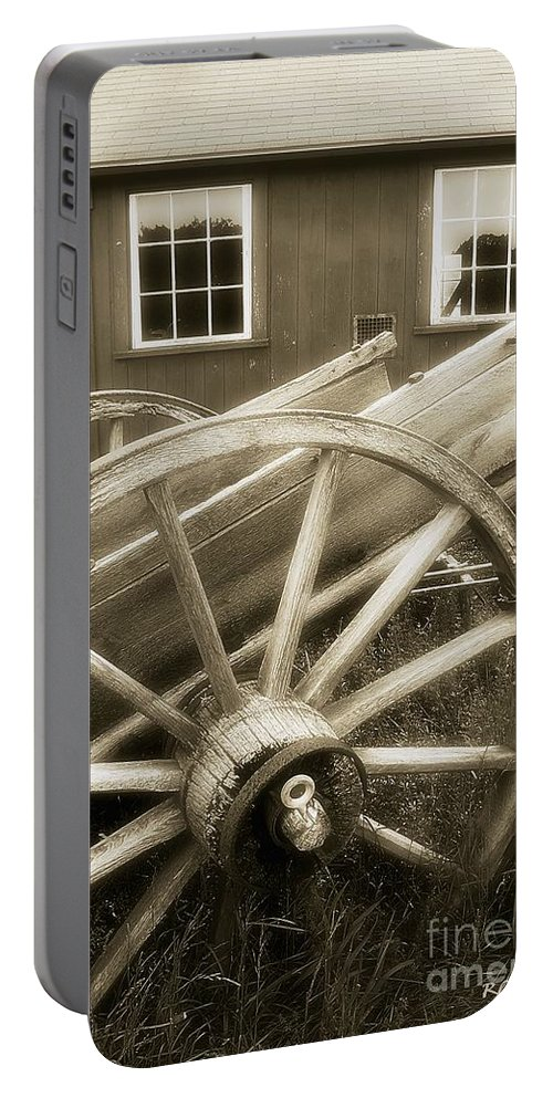 Barn Portable Battery Charger featuring the photograph Vintage Tableau by RC DeWinter