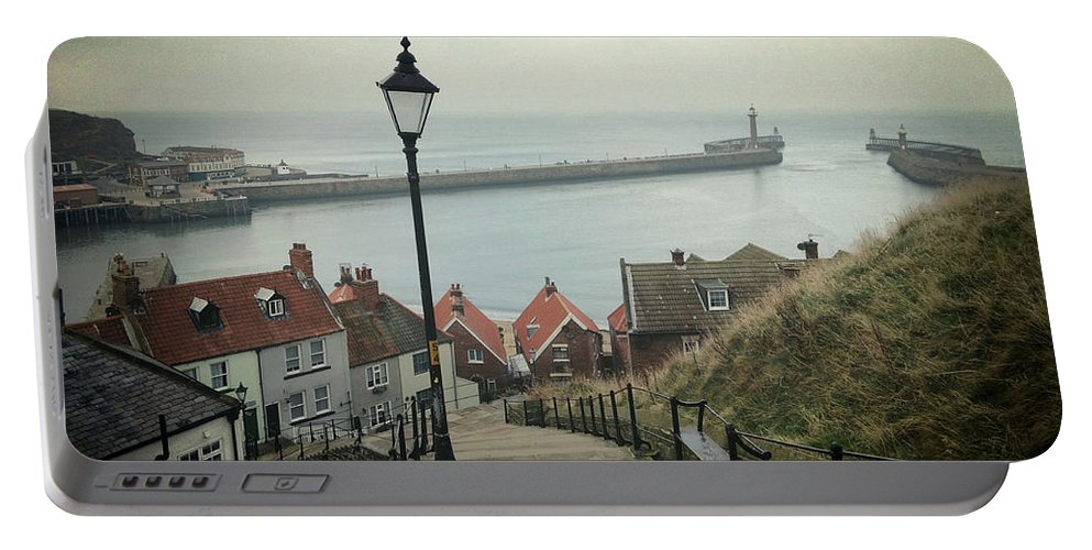 Whitby Portable Battery Charger featuring the photograph Vintage Whitby by Sarah Couzens
