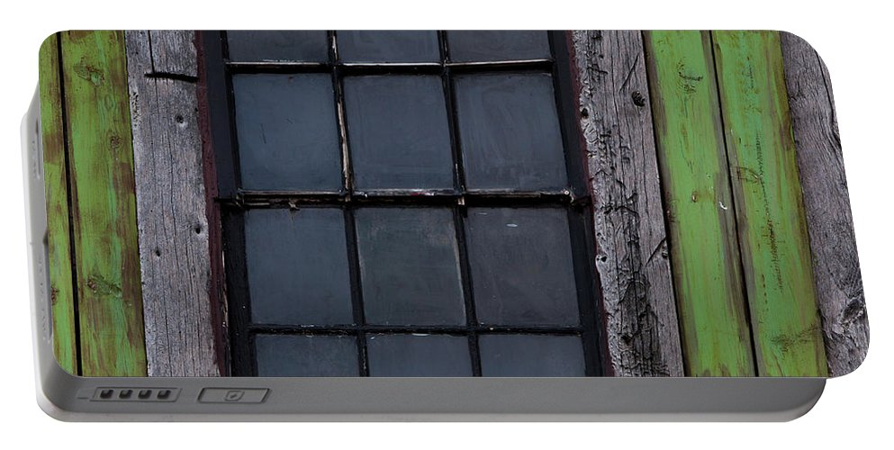 Windows And Doors Portable Battery Charger featuring the photograph Vintage Windows by David Millenheft