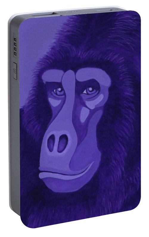 Violet Gorilla Portable Battery Charger