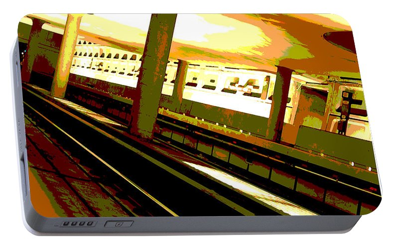 Subway Portable Battery Charger featuring the photograph Virginia Square Metro I by Michelle Hastings