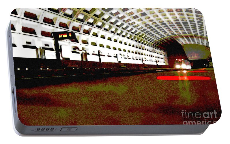 Subway Portable Battery Charger featuring the photograph Virginia Square Metro II by Michelle Hastings