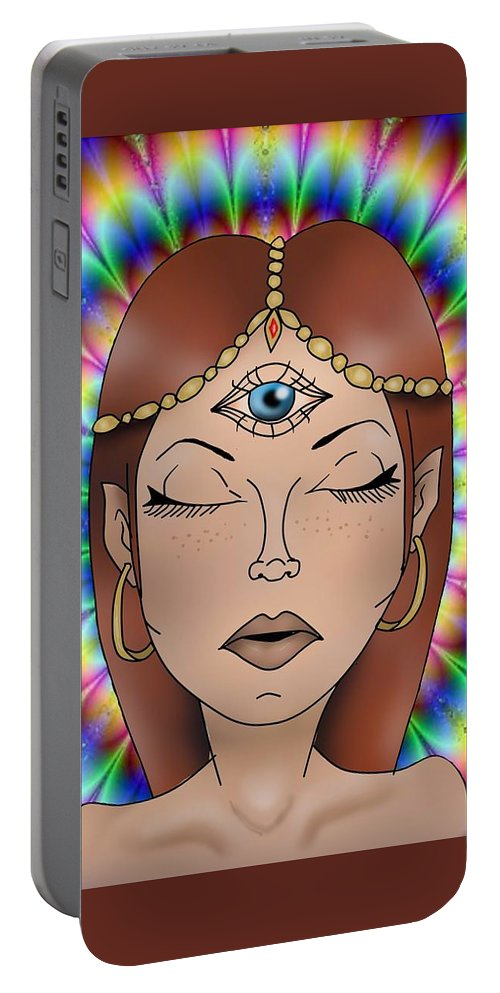 Vision Portable Battery Charger featuring the digital art Vision by Lungu Larisa