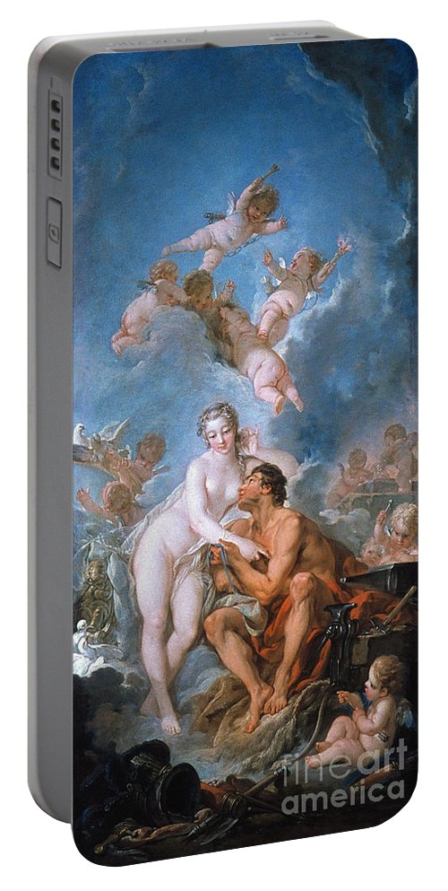 1754 Portable Battery Charger featuring the photograph Visit Of Venus To Vulcan by Granger