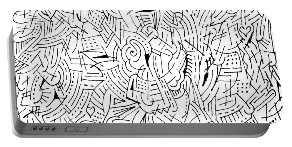 Mazes Portable Battery Charger featuring the drawing Visualization by Steven Natanson