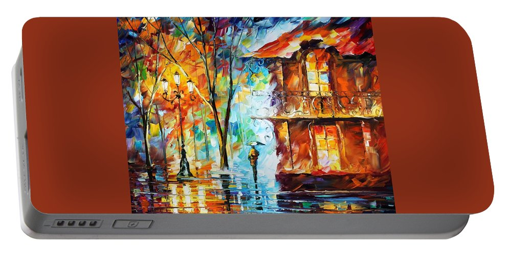 Afremov Portable Battery Charger featuring the painting Vitebsk by Leonid Afremov